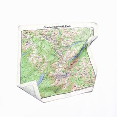 Glacier National Park topographical map printed on a bandana! American-made. Shop at themiaproject.com