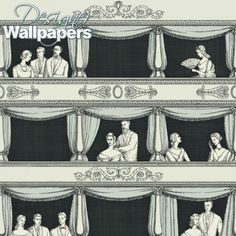 Buy Cole and Son Teatro - Free Next Day Delivery | Designer Wallpapers ™