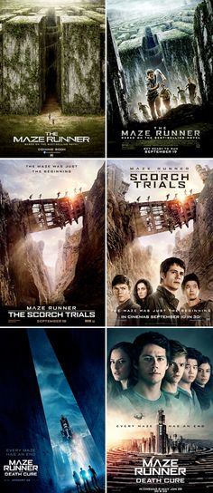 The Maze Runner series promotional posters