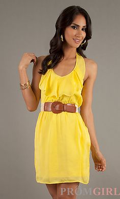 Short Casual Halter Dress! I don't really like yellow dresses, but I have to say that this one is super cute!