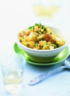risotto met vis en garnalen