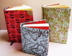 Mini book tutorial using index cards folded in half.  Just for fun project, or an easy memo book to stick in your purse.