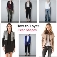 PEAR SHAPED WOMEN: how to layer