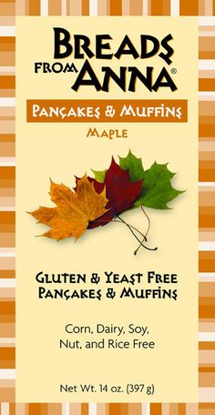 Breads from Anna — Gluten & Yeast Free Maple Pancake & Muffin Mix — Corn, Dairy, Soy, Nut and Rice Free too! #glutenfree