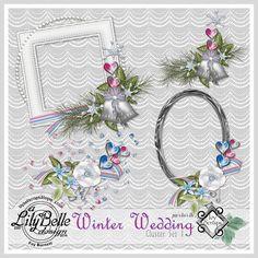 WINTER WEDDING - CLUSTERS [LilyBelle Designs] - $1.00 : Ivy Scraps - Store