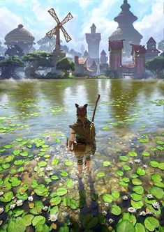 Transparent water is a large part of this tranquil fantasy scene. Credit: ArtStation - Home, Rob Vital