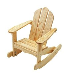 Kid's Adirondack Rocking Chair, Unfinished Or Finished Wood