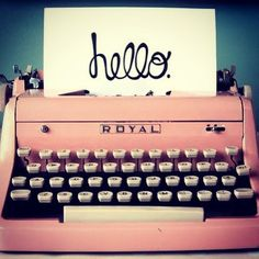 Hello #retro #vintage #oldskool #pink #typewriter