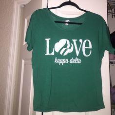 Green Kappa Delta Girl Scout's shirt KD green Girl Scouts shirt!! Super comfy and cute Tops Tees - Short Sleeve