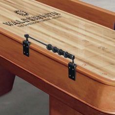 With its solid oak frame, The Blenheim shuffleboard exudes strength and simplicity - The Games Room Company Luxury Gifts For Men, Air Hockey, Solid Oak, Game Room, Storage Chest, Basement, Strength, Tables, Cabinet