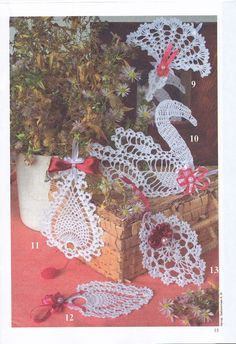 """Photo from album """"Валя-Валентина on Yandex. Crochet Doily Diagram, Crochet Motif, Crochet Designs, Crochet Doilies, Crochet Patterns, Crochet Placemats, Christmas Wreaths, Christmas Ornaments, Home Made Soap"""