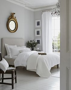 Le croissant d'argent - elorablue: White Bedroom-Styling By Elkie Brown...