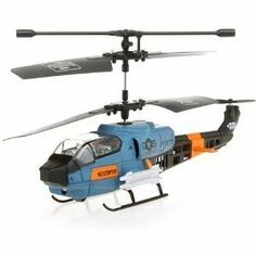 """Viefly 3 Channel RC Military Gyro Mini Indoor Helicopter with Mini Tool Box (cog) by Viefly Toy Products. $176.50. This Brand New 3 Channel Gyro RC helicopter is a top seller Helicopter in Malls. At 7"""" long, it easily fits in the palm of your hand and is fully functional out of the box, equipped with latest Gyroscope technology, which makes this helicopter an instant hot seller in the RC World. Get one today before they all fly away. Miniature Military Helicopter.Fu..."""