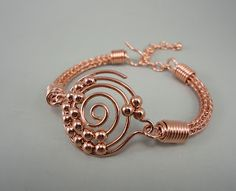 rose cold bracelet ... beautiful - think I'm gonna try it in copper.....