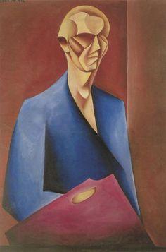 """Mieczysław Szczuka """"Autoportret z paletą"""""""