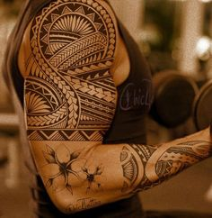 samoan tattoo on shoulder
