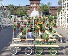 A rolling garden on wheels recently popped up in the middle of Milan | Inhabitat - Sustainable Design Innovation, Eco Architecture, Green Building