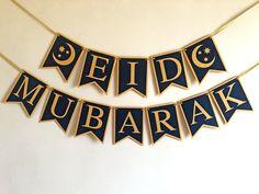 Eid Bunting, Eid Banner, Eid Mubarak Banner, Bunting Garland, Bunting Ideas, Eid Crafts, Ramadan Crafts, Eid Pics, Decoraciones Ramadan