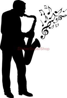 Jazz Silhouette Clip Art | http://www.clker.com/clipart-167086.html