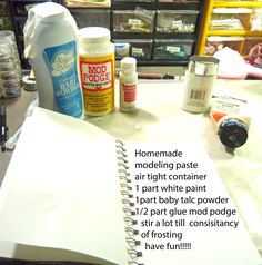 Try with PVA and not Mod Podge  http://lindamd12.files.wordpress.com/2013/10/homemade-modeling-paste-recipe1.jpg