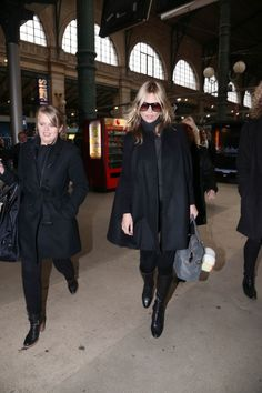 Kate Moss arriving in Paris from London by Eurostar. 11-21-2012