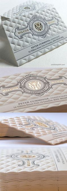 Amazing Highly Textured Letterpress And Gold Foil Business Card - Graphic Vital Corporate Design, Business Card Design, Creative Business, Branding Design, Corporate Business, Graphisches Design, Print Design, Design Cars, Design Ideas