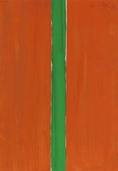 Günther Förg, Ohne Titel (2A, orange mit grün)