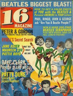 Ah, memories when I was a teenager, I HAD to have my 16 Magazine, with pin ups of the the Monkees!
