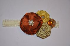 Rustic/Vintage infant headband with fall colors  by BabyClass, $9.00