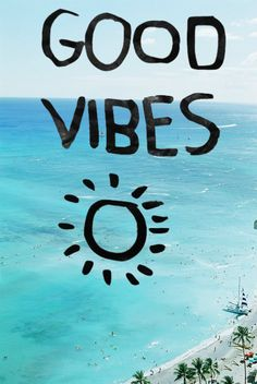 Good vibes on beach background                                                                                                                                                                                 Mehr