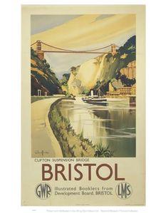 BristolClifton Suspension Bridge GWR LMS on VintageRailPosters.co.uk Prints