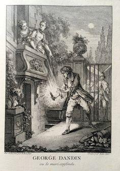 George Dandin ou le mari confondu - Molière - gravé par Laurent CARS d'après François BOUCHER - MAS Estampes Anciennes - Antique Prints since 1898
