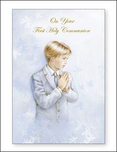 boys communion cards - Google Search