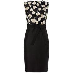 Precis Petite Tulip Dress, Black/Multi (13.245 RUB) ❤ liked on Polyvore featuring dresses, petite, midi shift dress, shift dress, sleeveless midi dress, floor length dresses and sleeveless shift dress