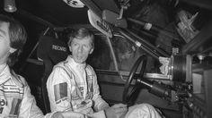 Walter Röhrl mit seinem Co-Piloten Christian Geistdorfer bei der Rallye Monte Carlo im Jänner 1984.