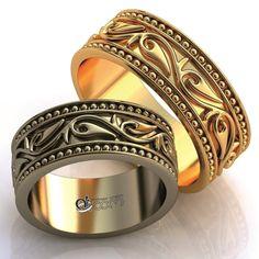 Wedding rings 166 w Model in Jewellery Bangles, Bracelets, Gold Rings, Wedding Rings, Rose Gold, Engagement Rings, Aur, Free Wedding, Jewelry
