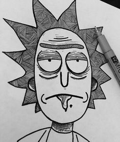 Draw your Favorite Characters M all FanArt .-Desenhe seus Personagens Favoritos M todo FanArt Draw your Favorite Characters M all FanArt – - Trippy Drawings, Dark Art Drawings, Pencil Art Drawings, Art Drawings Sketches, Cartoon Drawings, Easy Drawings, Simple Drawings Of Nature, Doodle Art, Rick And Morty Drawing
