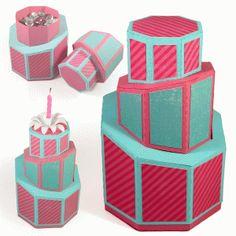 Silhouette Online Store - View Design #41393: 3d denni cake boxes