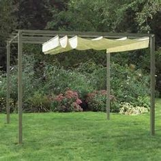 Pérgola retráctil. retractable pergola roof diy - Bing Images  Yes I do think this could be done!