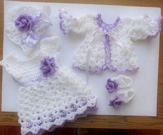 Детское платье свитер шапку и обувь вязание крючком узором по paintcrochet