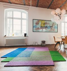 Fast Take With Carpet Maker Peter Ruckstuhl Swiss Design, Interior Design Magazine, Types Of Rugs, Picture Wall, Rugs On Carpet, Interior Architecture, Color Pop, Sweet Home, Area Rugs