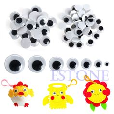 Hot 520PCS 6-20mm Wiggly Wobbly Googly Eyes Self-adhesive Scrapbooking Crafts A18290