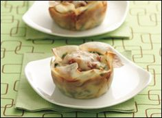 light lasagna cupcakes made with wonton wrappers.