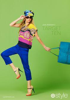 Target...cigarette pants and Kendi's shoes