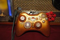 This geared-out video game controller. | 18 Steampunk Decor Flourishes That Will Make Any Room Badass