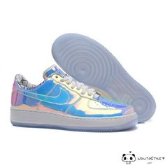 reputable site d1266 d55de Nike Air Force 1 ID Super Bowl Mirror Gradient Rainbow Running Shoes - Air  Force 1