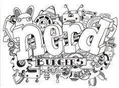 Nerd Burger Kawaii Mechanical Doodle | by Qski McGrewski