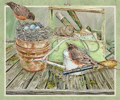 Lang March 2015 Desktop Wallpaper | Birds In The Garden
