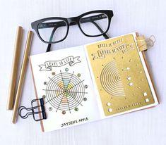 Bullet Journal pochoir, pochoir planificateur, niveau 10 vie pochoir - s'adapte à la poche, passeport et champ note