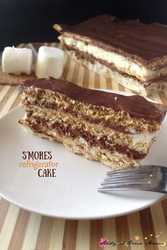 10-minute S'mores refrigerator cake -- the easiest summer dessert recipe ever!